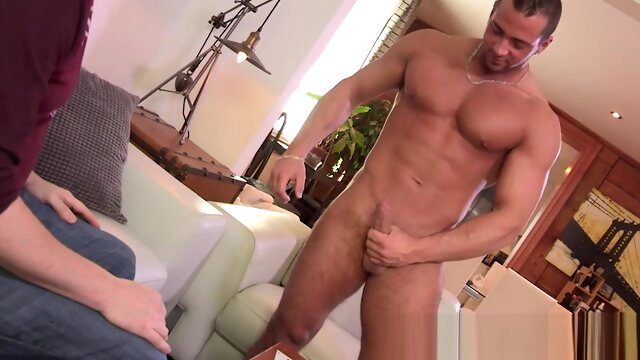 Big cocked hunk loses.. big cock gay  videos