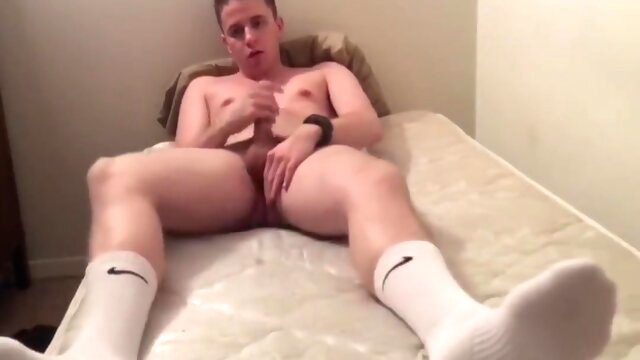 Jacking off in white.. college gay fetish videos